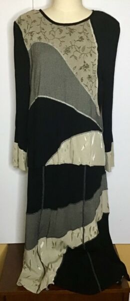 Tommy And Loulou Skirt And Top Vintage Multi Textured Color Block Embroidered $30.00