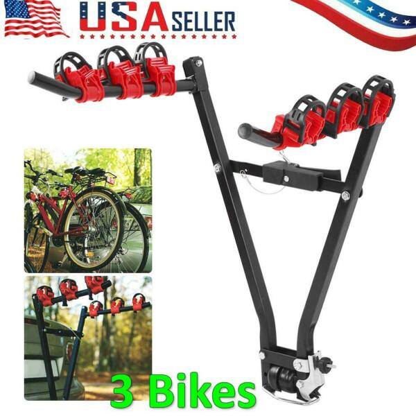 3 Bike Trunk Rack Rear Mount Three Bikes Carrier Car SUV Bicycle Sedans Sturdy $36.75