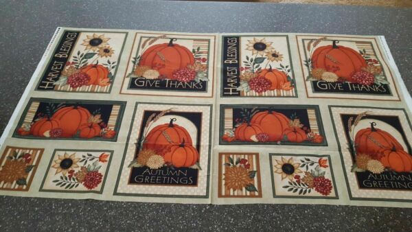 VIP Exclusive Give Thanks panels quilt sew fabric Thanksgiving 1649 45720 H