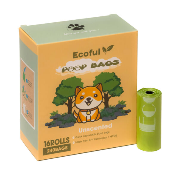 Ecoful Dog Poop Bags 16 Rolls Extra Thick amp; 100% Leak Proof Biodegradable Bags $12.99