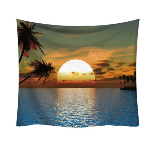 Psychedelic Tapestry Wall Hanging Art Decoration Bedroom Living Room Dorm Sunset