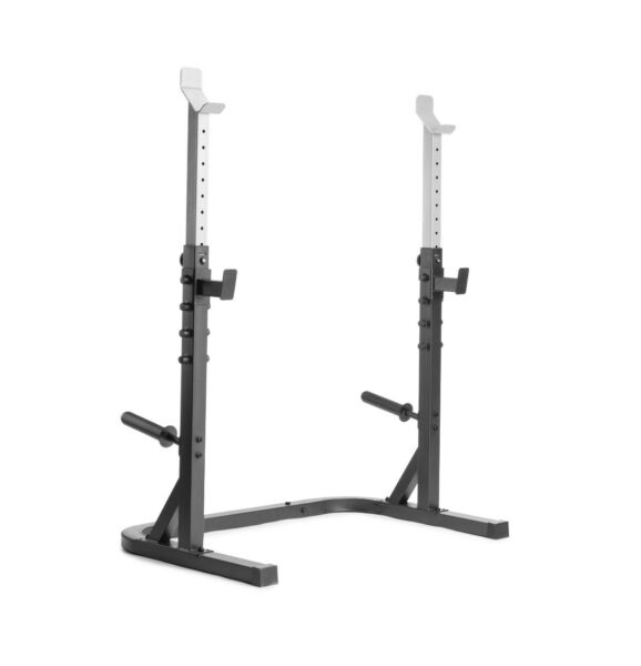Weider XRS 20 Olympic Squat Weight Rack w Adjustable Safety Spotters amp; Storage $299.00