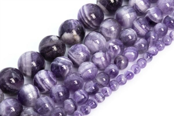 Genuine Natural Dog Teeth Amethyst Bead Grade AA Round Loose Beads 4 6 8 10 12MM $5.57
