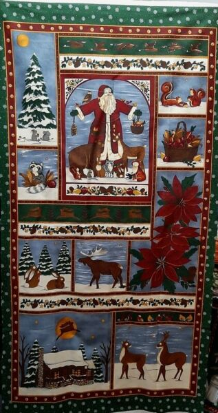 MODA Fabric A WOODLAND CHRISTMAS 23quot; PANEL