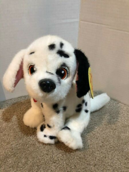 RARE Vintage Mattel Disney 101 Dalmation Plush Toy Dog Two Tone 1996 Spots $34.99