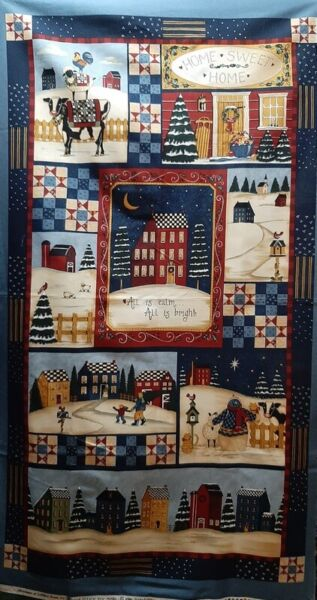 MODA Fabric CHRISTMAS AT SALTBOX FARM 23quot; PANEL