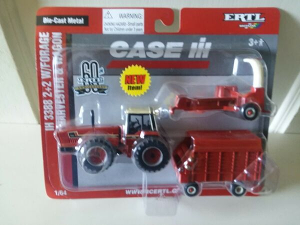 IH 3388 22 with Forage Harvester and Wagon 1 64 scale #14363 $38.00