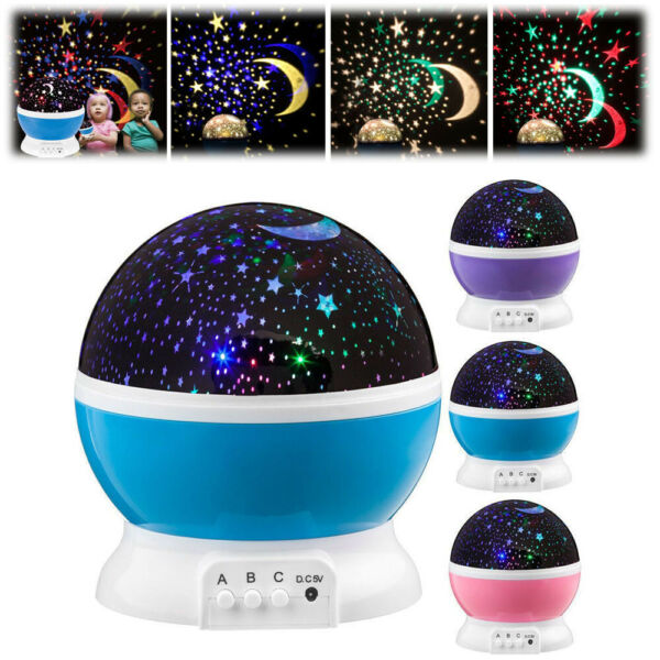 TOYS FOR 2 10 Year Old Kids LED Night Light Star Moon Constellation Xmas Gift