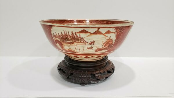 Antique Japanese Kutani Porcelain Bowl