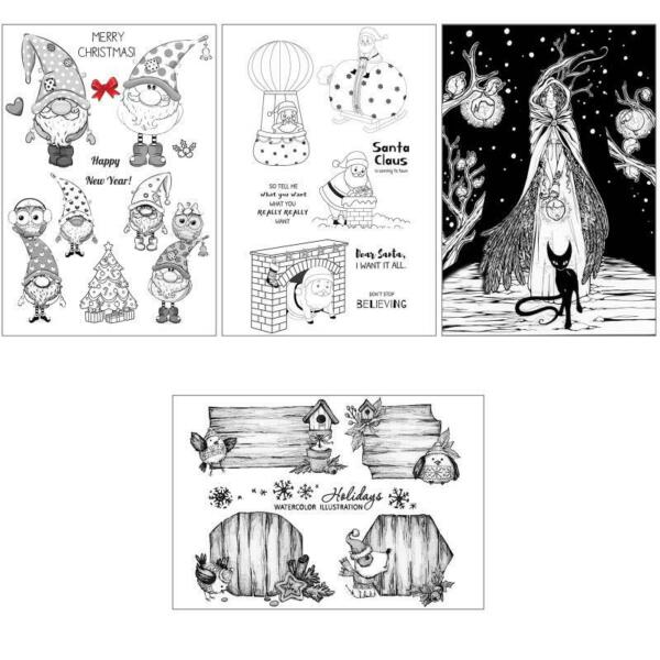 Christmas Dog DIY Silicone Clear Stamp Cling Seal Scrapbook Embossing Album $6.49