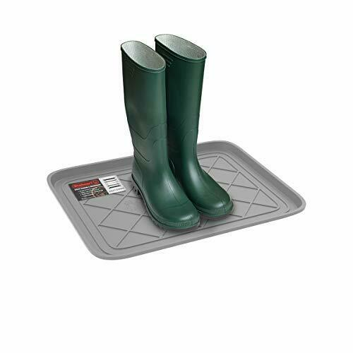 Weather Boot Tray Small Water Resistant Plastic Utility Shoe Mat Indoor Outdoor $14.09