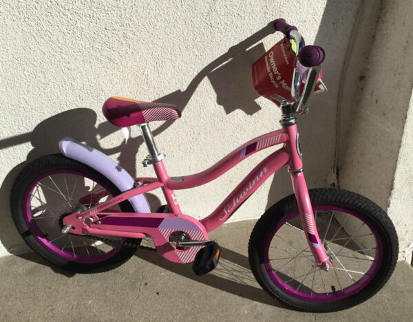 "16"" SCHWINN Girl's Bike Smart Start Sunny Side Pink Foot Break $30.00"