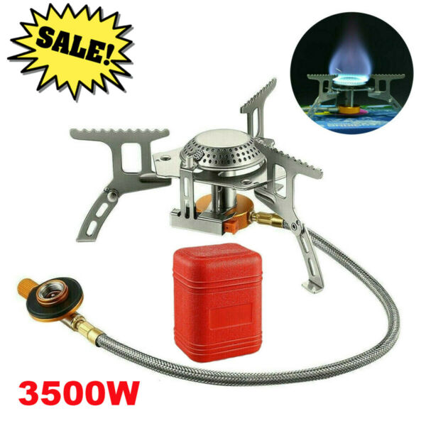 3500W Portable Gas Camping Stove Butane Propane Burner Outdoor Hiking Picnic $17.99