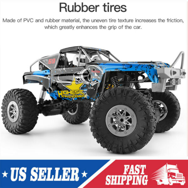 Wltoys Remote Control 1 10 Climbing Car 4WD Truck OffRoad 2.4G Kids Toy Gift RTR $53.85