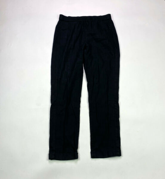 J. Jill Linen Stretch Elastic Waist Womens Size S Black Pull On Pants $22.49