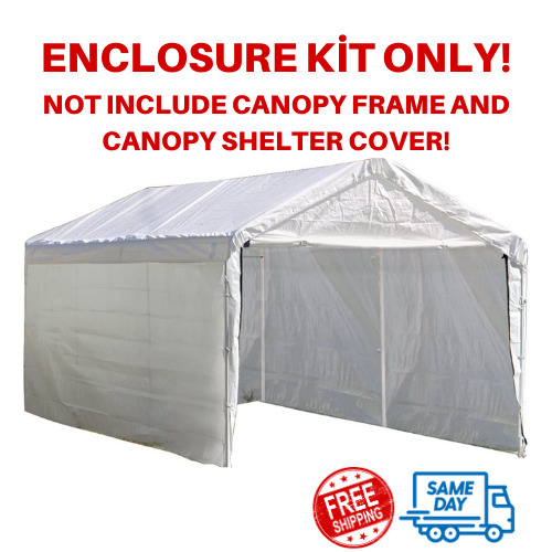Heavy Duty 10#x27;x20#x27; Outdoor Canopy Shelter Popup Shed Garage Carport Storage Tent