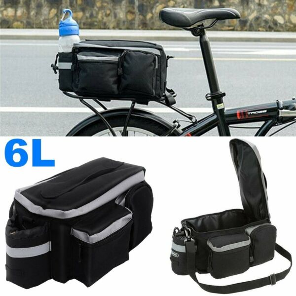 Cycling Bicycle Rear Seat Bag Storage Trunk Bike Pannier Rack Satchel Handbag US $14.99