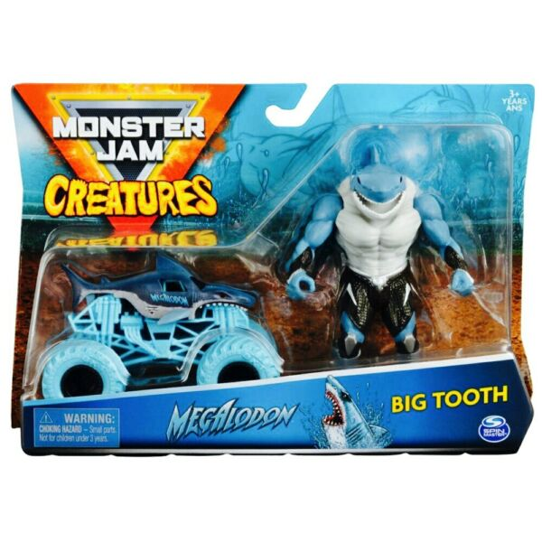 Megalodon amp; Big Tooth Action Figure Monster Jam Creatures 1 64 $19.95