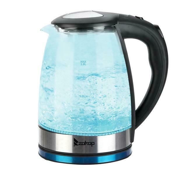 Electric Water Kettle BPA Free Glass Tea Hot Water Fast Boiling Shut off amp;filter $26.46