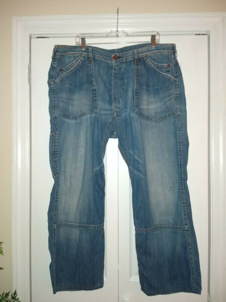 Evisu Jeans Mens Vintage 38 Square Pockets Actual Waist 39quot;
