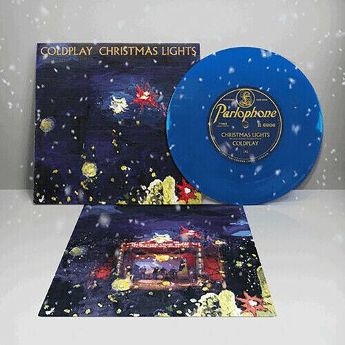 PRE ORDER Coldplay Christmas Lights New 7quot; Vinyl Blue Colored Vinyl