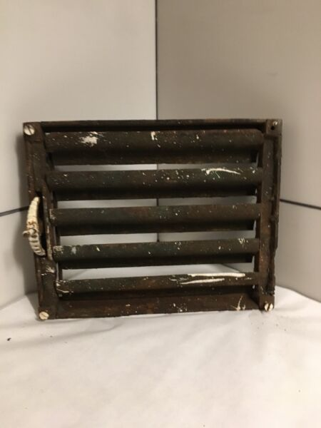 Antique Cast Iron Grate Heating Duct Wall Box Only For Projected Grill Item#88