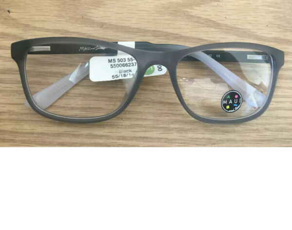MAUI and sons MS50355 1 Black Grey 55 18 140 Men RX Optical Eyeglasses Frame