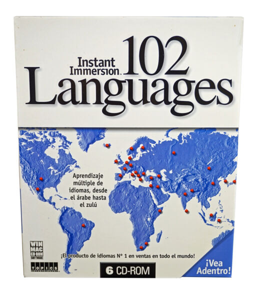 Instant Immersion Learn 102 Languages on 6 CD Roms Spanish to English Version $9.99