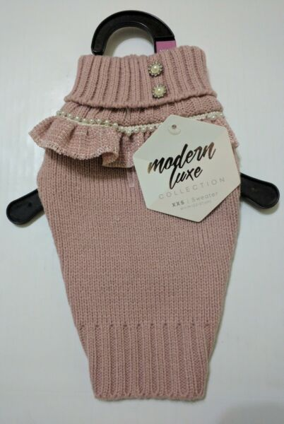 Fancy Dog Pink Sweater Modern Luxe Collection Size XXS NWT $10.00