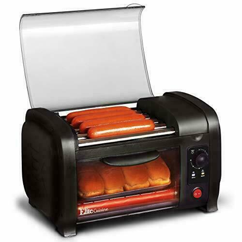 Elite Gourmet EHD 051B Hot Dog Toaster Oven 30 Min Timer Stainless Steel Heat $47.99