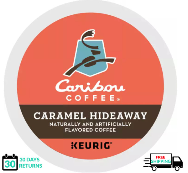 Caribou Caramel Hideaway Keurig Coffee K cups YOU PICK THE SIZE