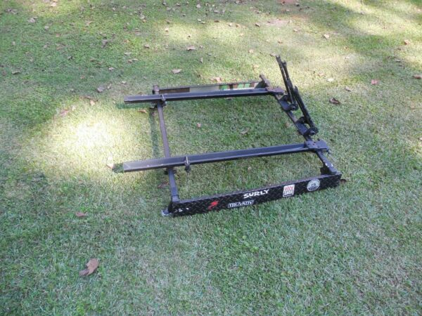 Vintage Thule Roof Rack Square Cross bars Bike 50quot; Adjustable Bicycle Tower part $84.95