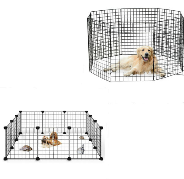 14 28in 8 12 Panels Tall Dog Playpen Large Crate Fence Pet Play Pen Exercise Cag