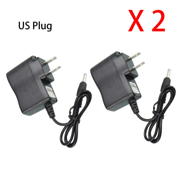 2 X Power AC DC Adapter Wall Charger For LED Flashlight Headlamp Torch US Plug $13.25