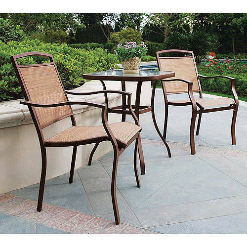 Mainstays Sand Dune 3 Piece Outdoor Bistro Set for Patio and Porch Tan $152.99