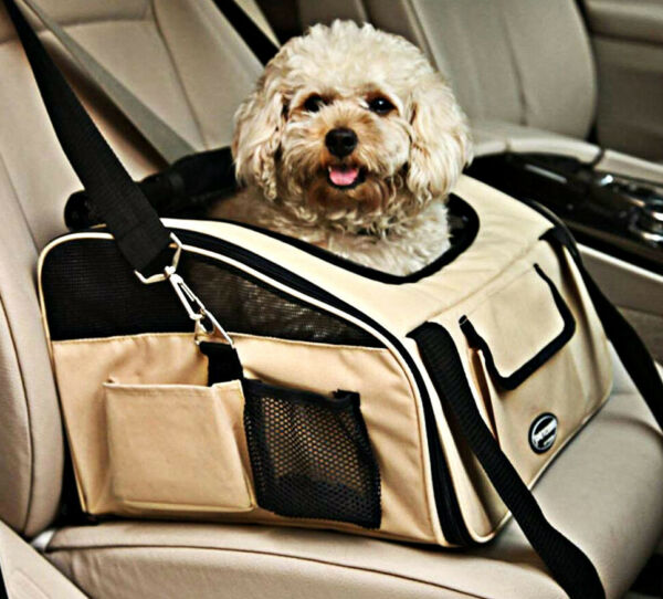 Pettom Pet Car Booster Seat Carrier Travel Cage for Dog Cat Puppy Small Animal $28.99