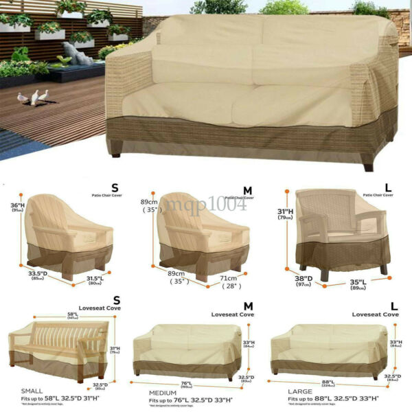 Patio Cover Outdoor Furniture Porch Sofa Waterproof Dust Proof Loveseat $26.06