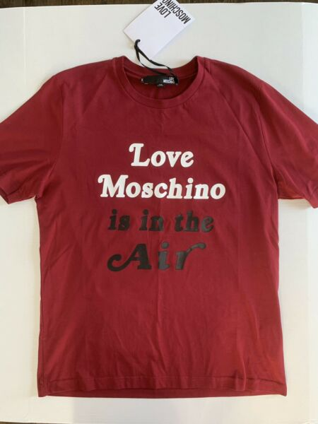 Love Moschino Men's T Shirt With Print Size L Color Burgundy $79.99