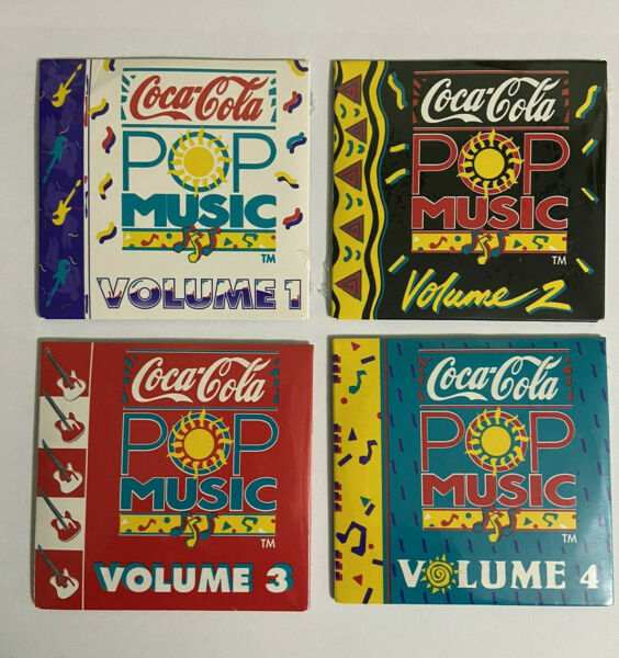 Vintage Coca Cola POP MUSIC Mini CDs Volumes 123 amp; 4 Sealed from 1989 amp; 1990