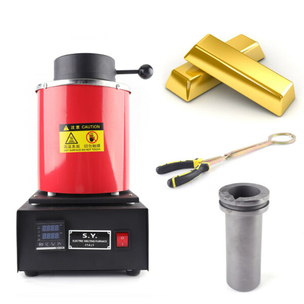 1400W 3KG Electric Melting Furnace Gold Silver Metal Smelter Jewelry Tool US UPS $165.00