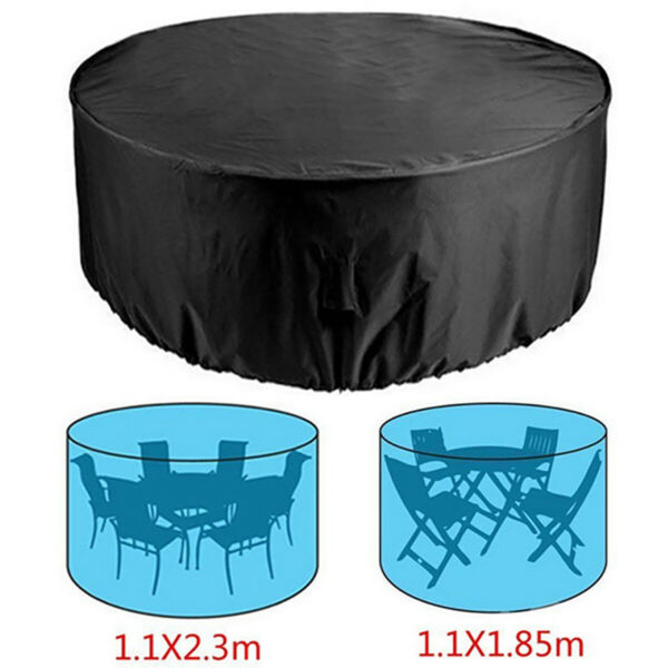 Large Round Waterproof Furniture Cover Outdoor Garden Patio Table Chair Covers $38.85