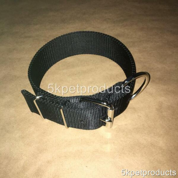 LARGE DOG COLLAR HEAVY DUTY 2quot; WIDE DOUBLE PLY NYLON BUCKLE COLLAR 2 PLY USA $13.99