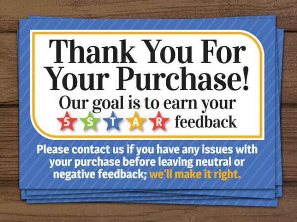 *ORIGINAL* Thank you for your purchase shipping labels stickers blue 2x3 100 200