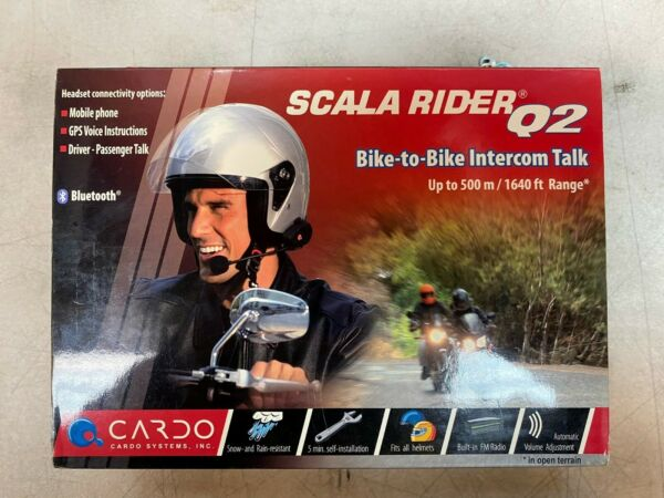 *NEW* Cardo Scala Rider Q2 Motorcycle bike to bike intercom $159.00