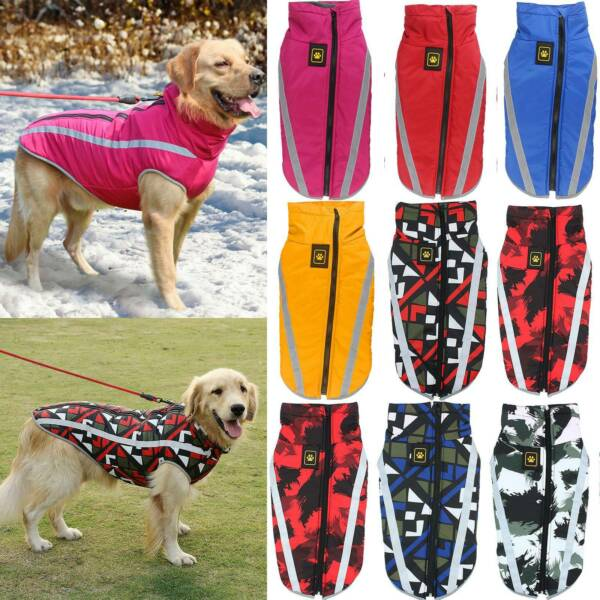 Dog Waterproof Padded Vest Coat Winter Warmer Clothes Pet Jacket Medium Large $12.34