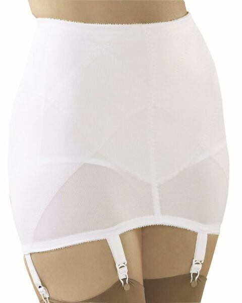 Cortland Shapewear Open 6 Strap White Garter Girdle Plus Size 50 10XL