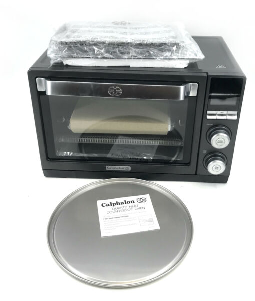 Calphalon Quartz Heat Counter Top Toaster Oven Dark Stainless Steel #NO7938