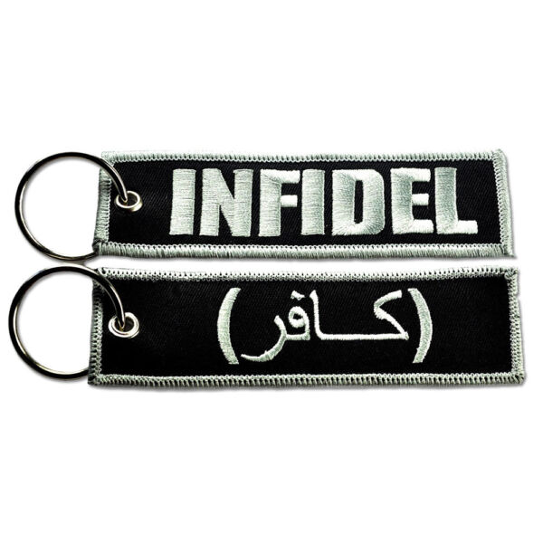BASTION Keychain Tag Double Side Key Ring Embroidered Car Bike SUV ATV Infidel $8.99