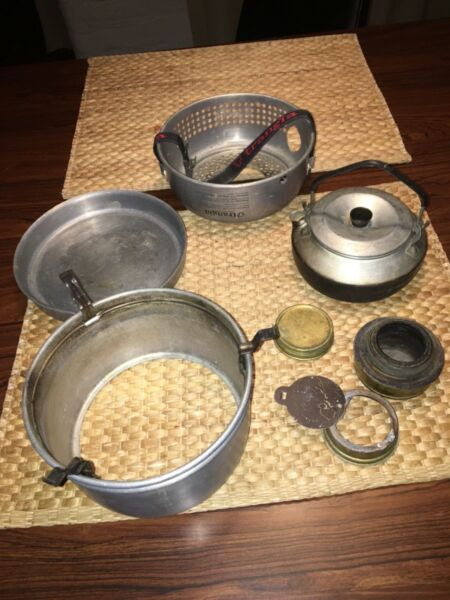 Vintage Trangia Sweden 27 Series Alcohol Camping Hiking Stove Frying Pan Kettle