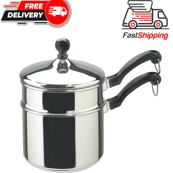 Farberware Classic Stainless Series 2 Quart Covered Double Boiler..